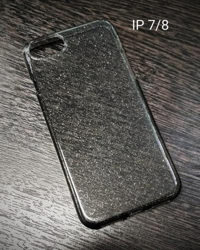 Чехол-накладка для Iphone 7/8(тонированный с блестками)