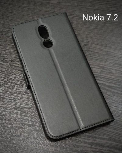 Чехол-книжка для Nokia 7.2 (черная)
