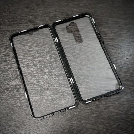 Магнитный двухсторонний чехол на 360 Xiaomi Note 8 Pro (черный)