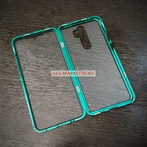 Магнитный двухсторонний чехол на 360 Xiaomi Note 8 Pro