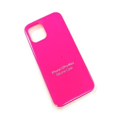 Чехол-бампер iPhone 12 Pro MAX New Soft Touch (ярко-розовый)