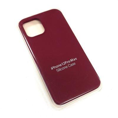 Чехол-бампер iPhone 12 Pro MAX New Soft Touch (вишня)