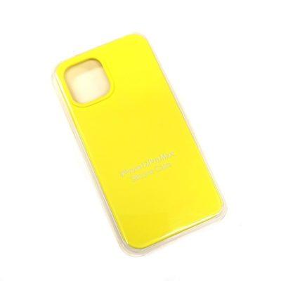 Чехол-бампер iPhone 12 Pro MAX New Soft Touch (желтый)